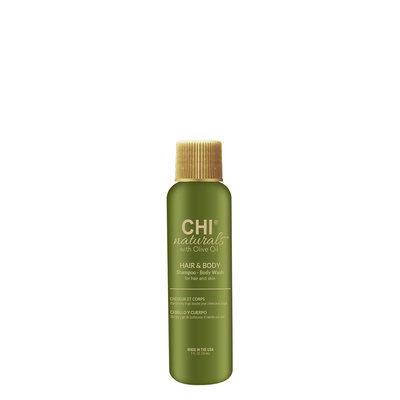 CHI Naturals mit Olivenöl Haarshampoo & Duschgel 30ml