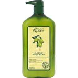 CHI Champú y gel de baño naturales con aceite de oliva 710ml