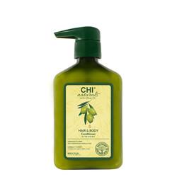 CHI Naturals con olio d'oliva balsamo per capelli e corpo 340 ml