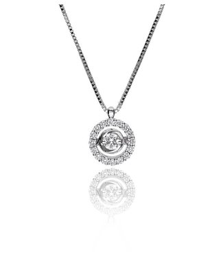 Zazare White Gold swinging Diamant hanger 18KT