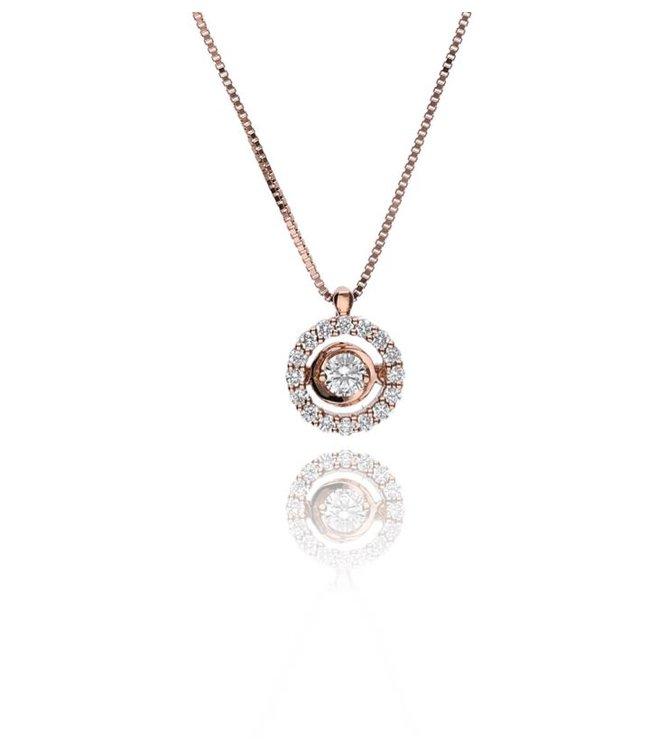 Zazare Rose gold swinging Diamant hanger 18KT