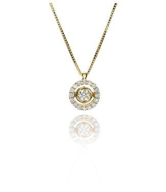Zazare Yellow Gold swinging Diamant hanger 18K