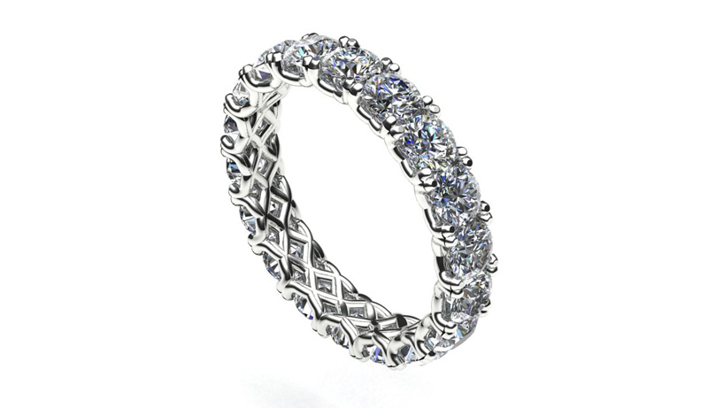 3D render sieraad ontwerpen goud en diamanten