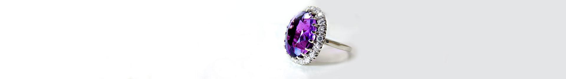 Rings with colour stones Zazare Diamonds
