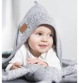 Jollein Badcape 75x75cm Stonewashed Knit Grey