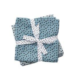 Done By Deer Hydrofiele Doek Happy Dots 2-Pack Blauw