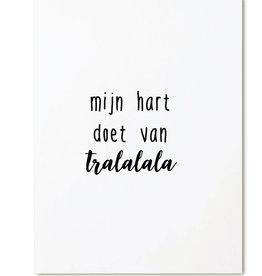Zoedt Kaart Mijn Hart Doet Van Tralala