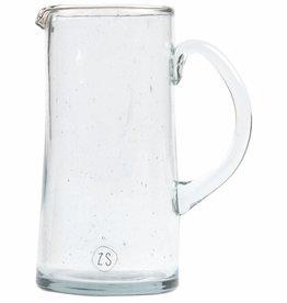 Zusss Waterkan Gerecycled Glas 1000ml