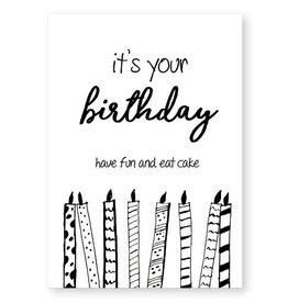 Jots Kaart A5 It's Your Birthday, Eat Cake