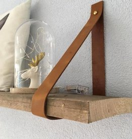 Leren Plankdragers Cognac (Set Van 2)