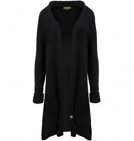 Zusss Heerlijk Lang Vest Zwart