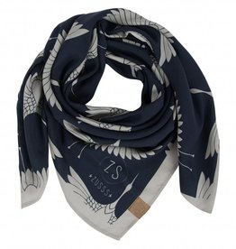 Zusss Frivole Sjaal Kraanvogel Nachtblauw