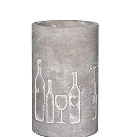 Rader Wine Cooler Cement Bottle + Glass