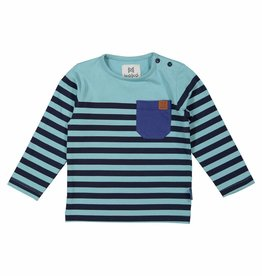 Shirt Dark Aqua Navy Stripe