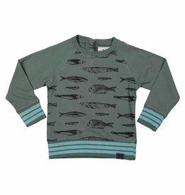 Sweater Vissen Dark Green