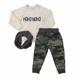 Broek + Shirt + Sjaal Camouflage