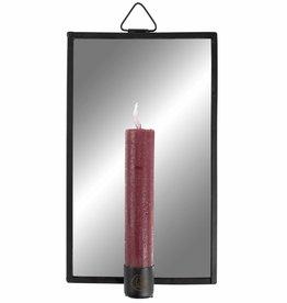 Zusss Spiegel Met Kaarsenhouder Metaal Zwart