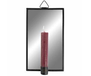 Spiegel Zwart Metaal : Spiegel met kaarsenhouder metaal zwart de dochter van mies