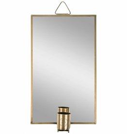 Zusss Spiegel Met Kaarsenhouder Metaal Goud