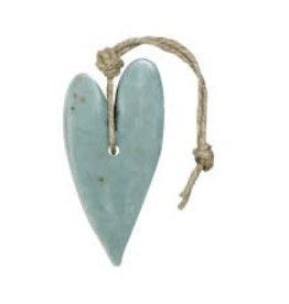 Mijn Stijl Hart XL Blauw/Grijs Olive