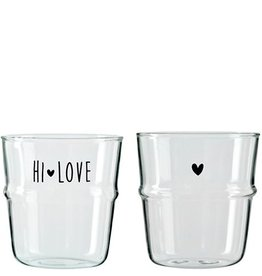 Bastion Collections Waterglas Hi Love