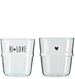 Bastion Collections Waterglas Zwart Hartje