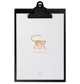 Zusss Klembord Metaal Met Poster A5 Zwart