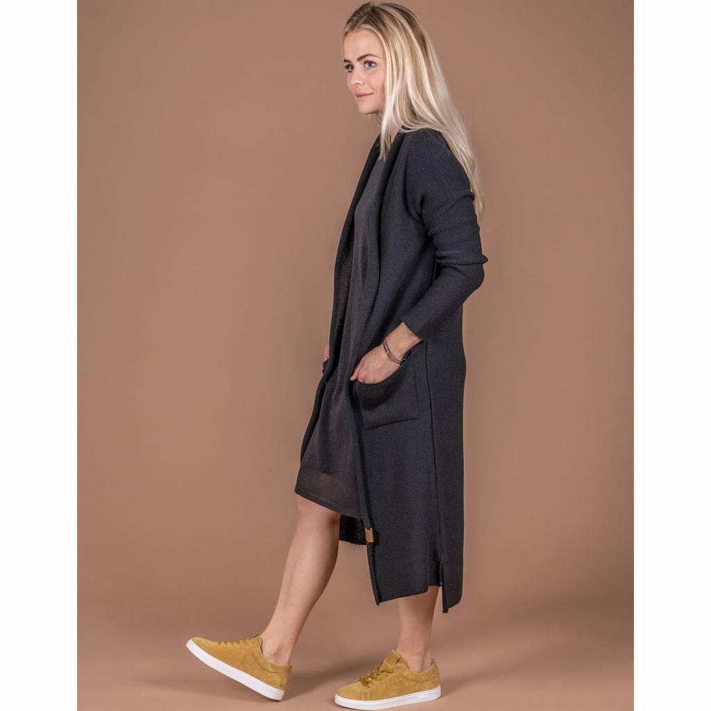Zusss Lekker Lang Vest Off-Black