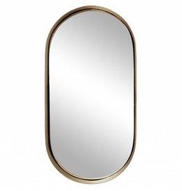 Zusss Spiegel Metaal Ovaal Goud