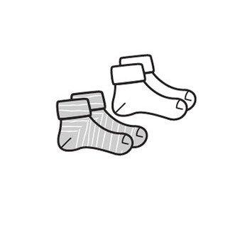 BESS Socks 2-Pack Hearts Pinstripe White