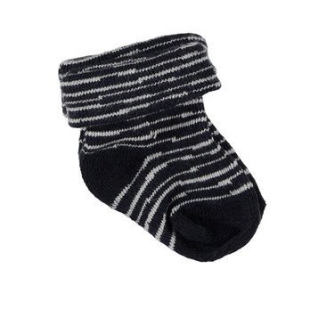 BESS Socks 2-Pack Hearts Pinstripe Blue
