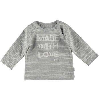 BESS Shirt Made With Love Pinstripe White