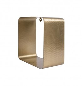 Zusss Wandrek Metaal Vierkant 20x20cm Goud