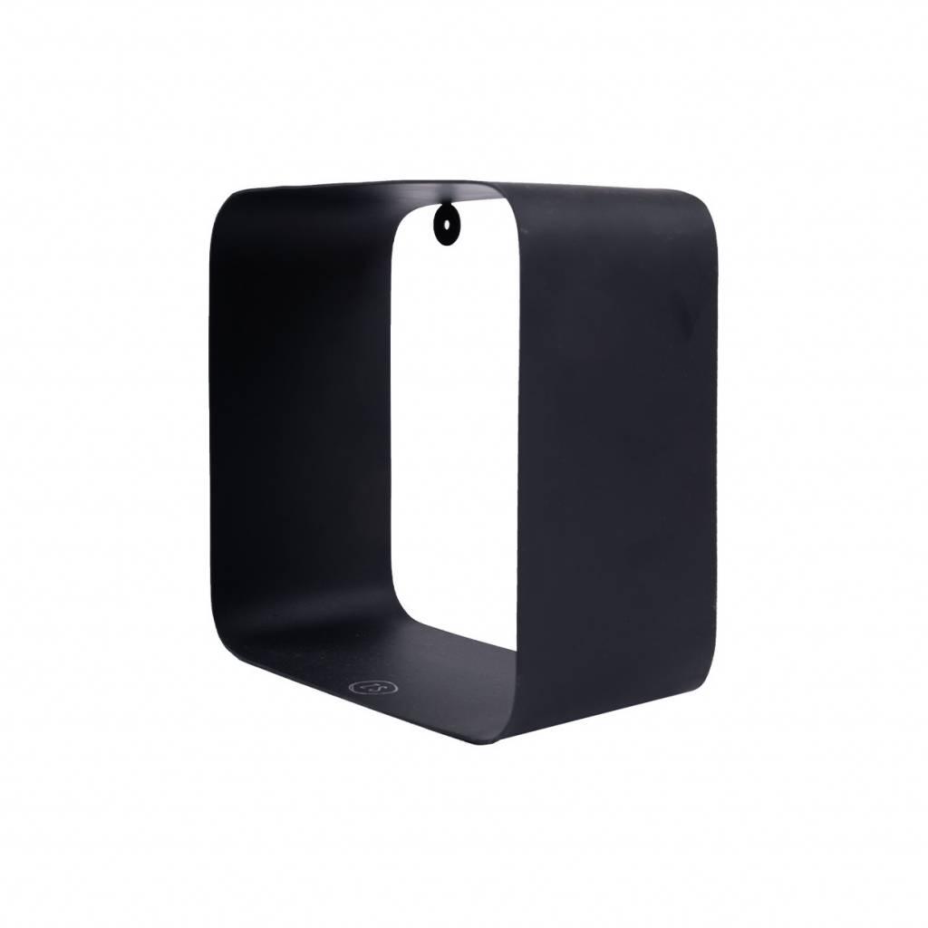 Zusss Wandrek Metaal Vierkant 20x20cm Zwart