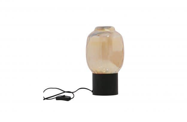 Bubble Tafellamp L Glas Antique Brass