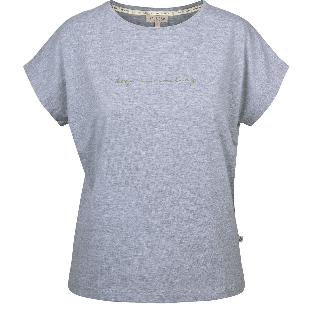 Zusss Tof Basic T-Shirt Grijs-melee