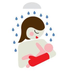 Baby Shower Glove Douchehandschoen Eend Groen