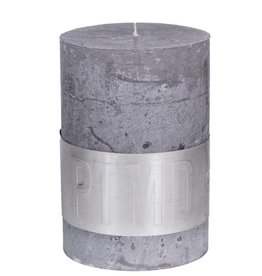 PTMD Rustic Suede Grey Kaars 7x10 cm