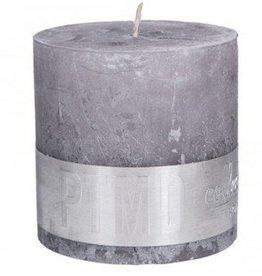 PTMD Rustic Suede Grey Kaars 10x10 cm