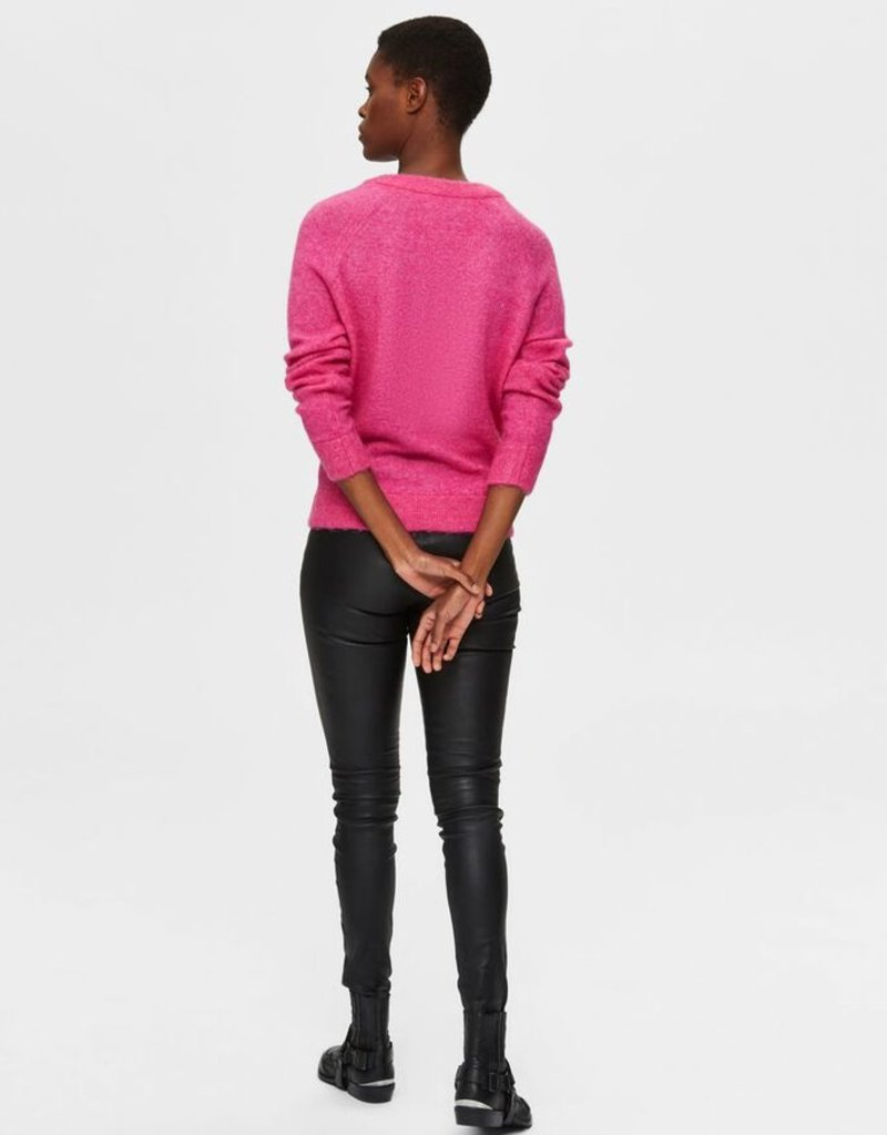 SELECTED FEMME Slflulu LS knit Very Berry