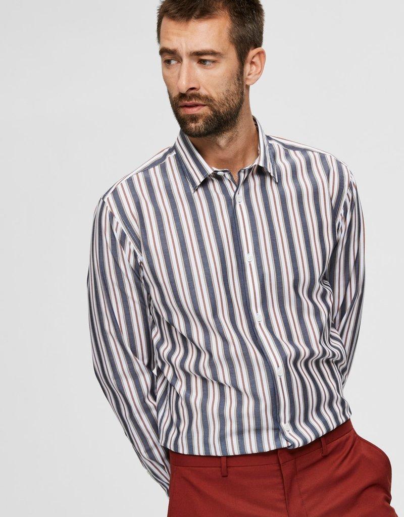 SELECTED HOMME Slhslimpen-Gregor Blue Stripes