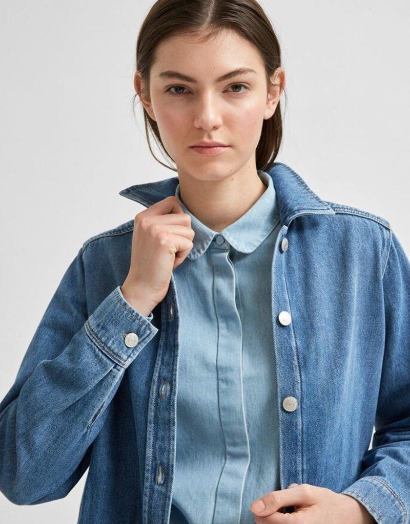 SELECTED FEMME SlfGilli LS Shirt Light Blue