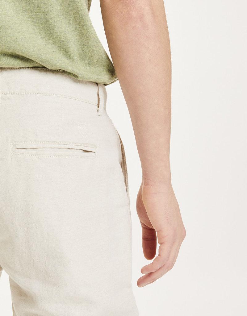 KNOWLEDGECOTTON APPAREL Chuck Light Linen pant Light Feather Gray