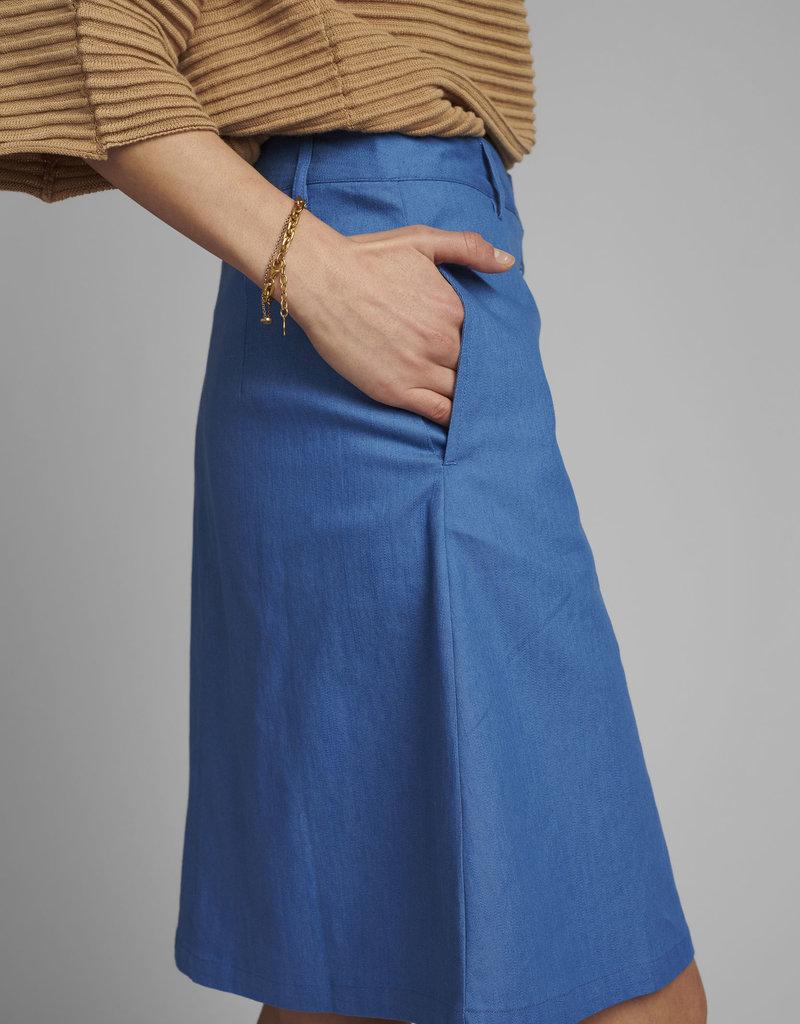 NÜMPH NuCathleen Skirt Medium Blue Denim