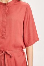 KNOWLEDGECOTTON APPAREL Orchid Mid Lenght Tencel Dress - Vegan Marsala