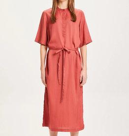 KNOWLEDGECOTTON APPAREL ORCHID MID LENGHT TENCEL DRESS - VEGAN