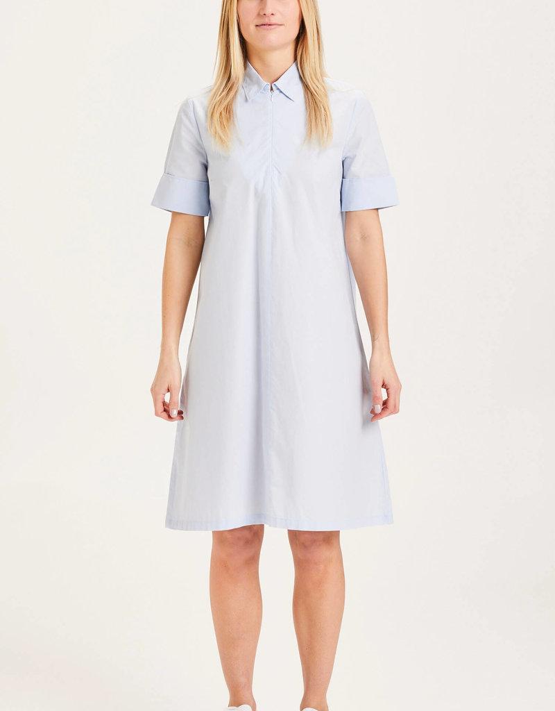 KNOWLEDGECOTTON APPAREL Azalea Shirt Dress - GOTS/Vegan Skyway
