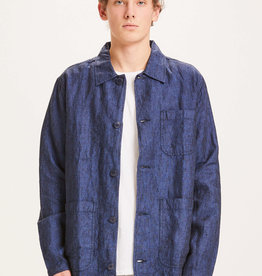 KNOWLEDGECOTTON APPAREL PINE LINEN OVERSHIRT