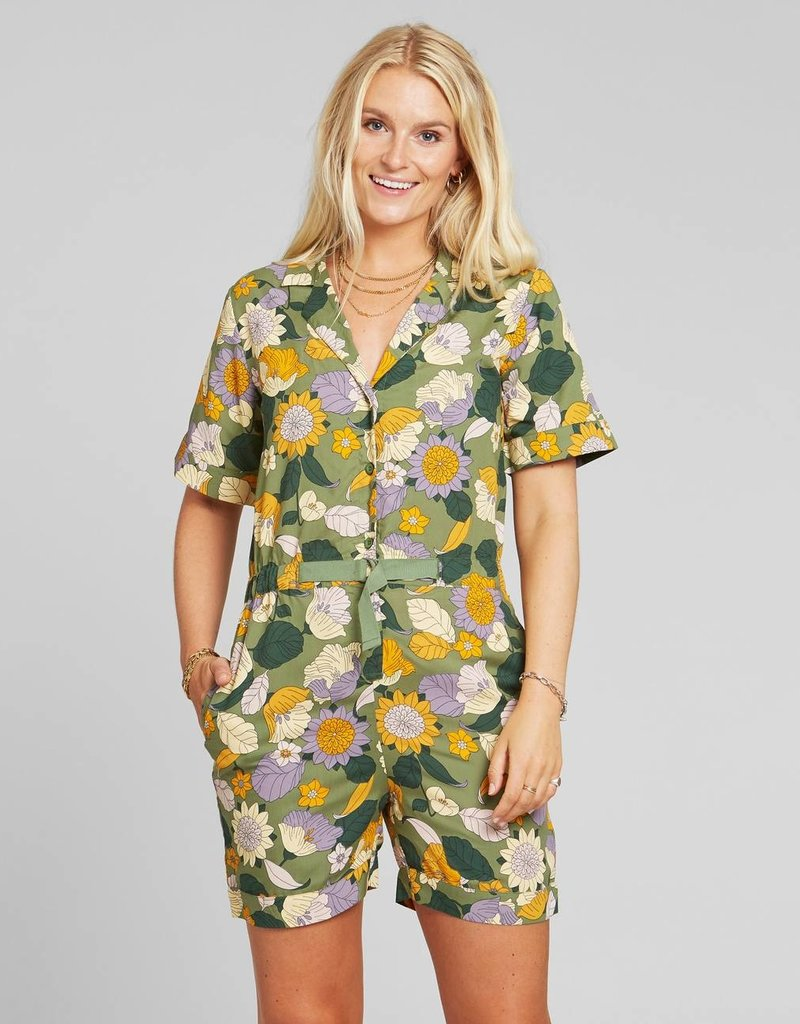DEDICATED Jumpsuit Hunnebo Floral Green
