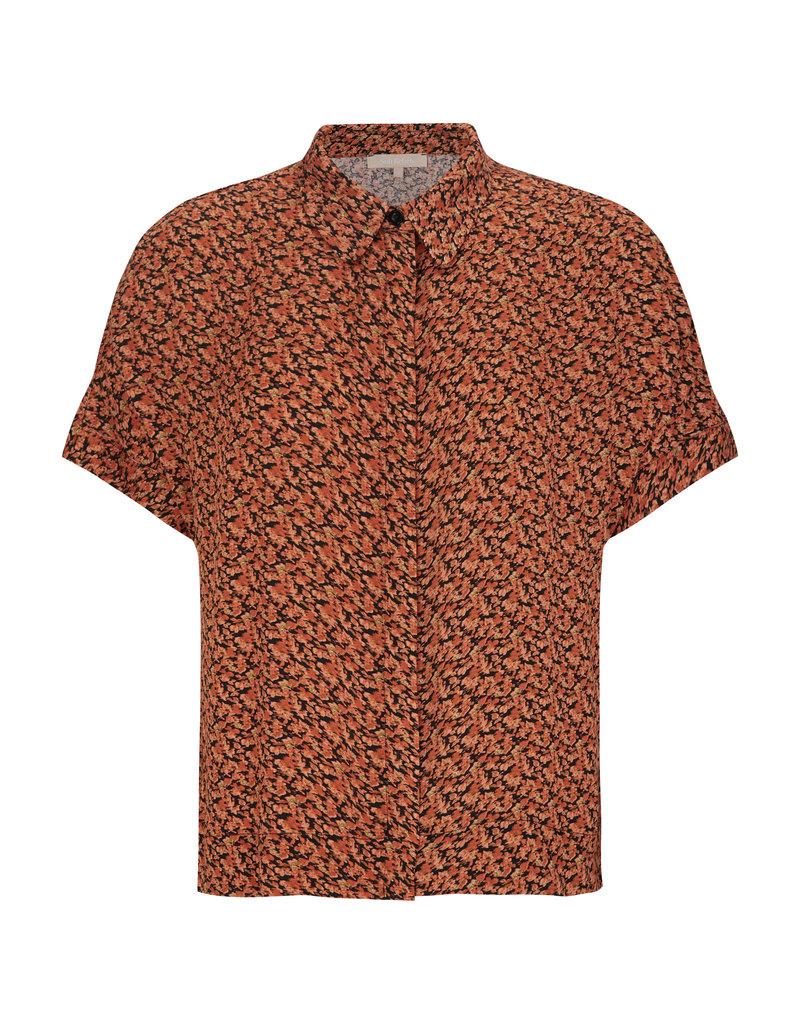 SOFT REBELS Srleah SS Shirt Blur Flower Rooibos